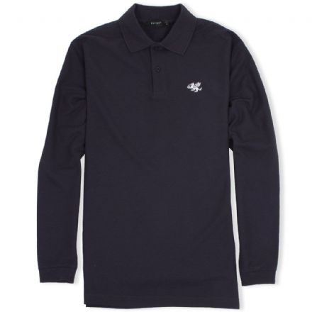 Senlak Long Sleeved Polo Shirt - Deep Navy